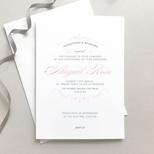 Personalised Christening Invitation - christening invitations