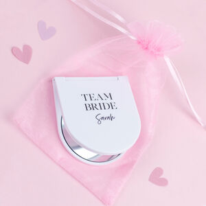 Team Bride Personalised Hen Do Pocket Mirror Gift