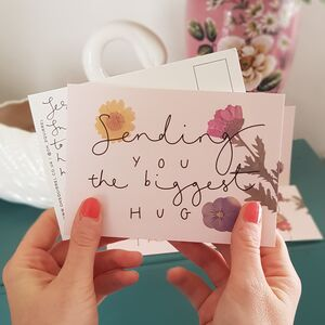 'Sending You The Biggest Hug' Friendship Postcard