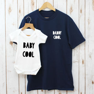 Daddy Cool And Baby Cool T Shirt Set