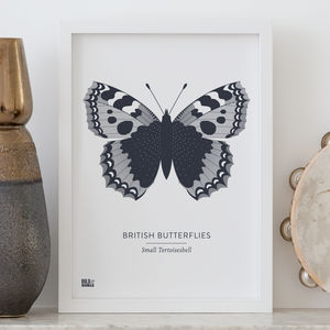 'British Butterflies: Small Tortoiseshell' Screen Print