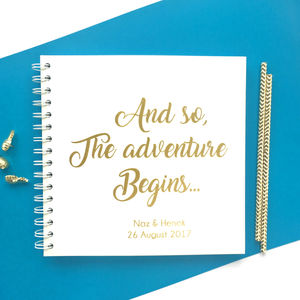 Personalised Wedding Guestbook: The Adventure Begins - guest books