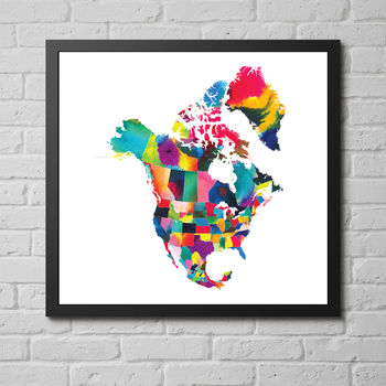 'The Americas And Canada' Fine Art Giclée Print