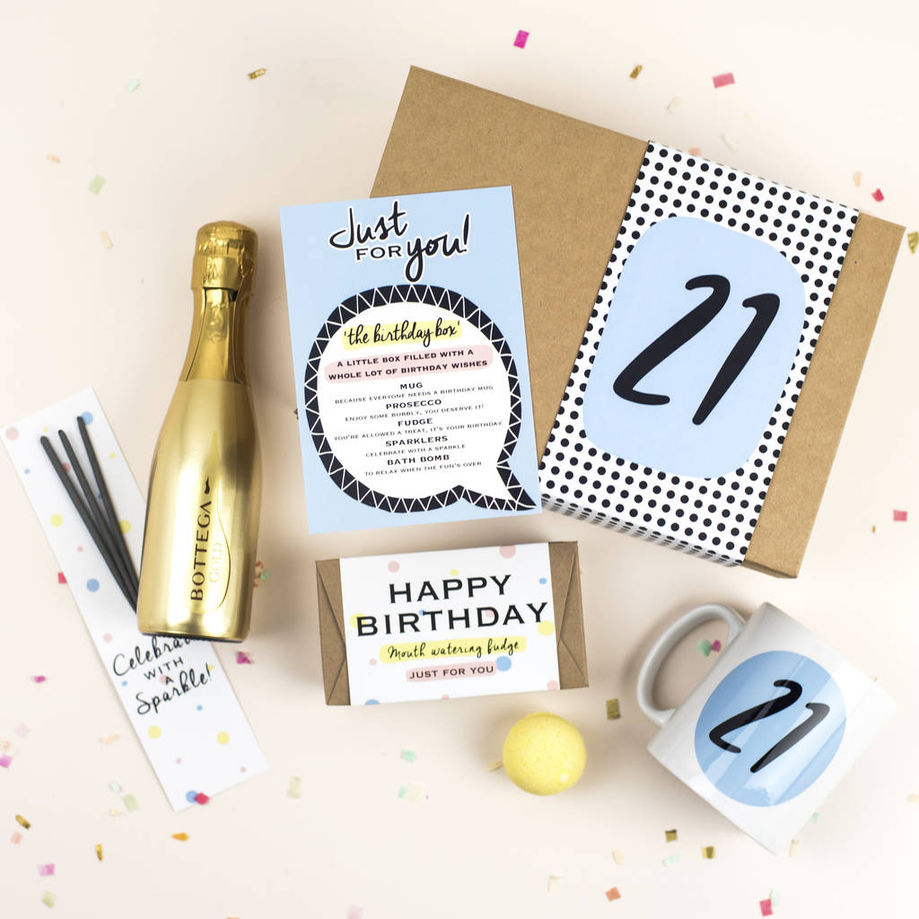 21st Birthday Gift Box In A