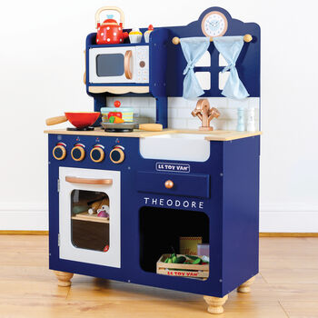 Personalised Wooden Toy Kitchen With Utensils