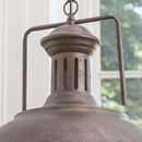 Grand Industrial Distressed Brown Ceiling Light