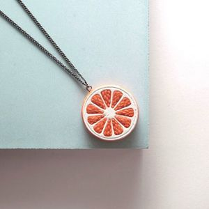 Orange Citrus Slice Necklace - necklaces & pendants