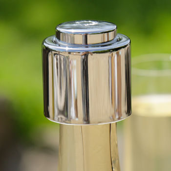 Nickel Champagne Bottle Stopper