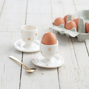 Gold Egg Cup - easter homeware