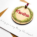 Personalised Pendant Christmas Card