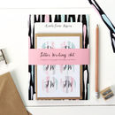 Personalised Letter Writing Set: Painterly Long