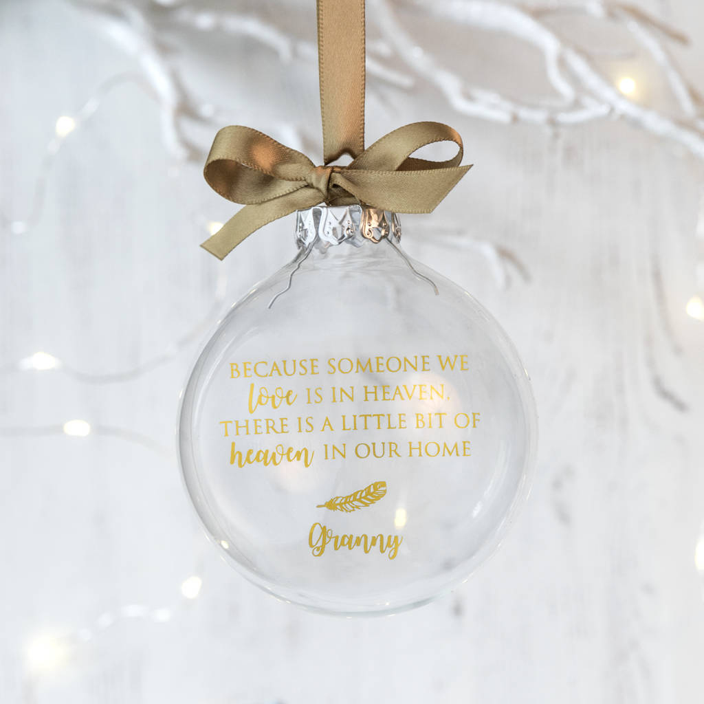 personalised memorial christmas bauble by jin.b | notonthehighstreet.com