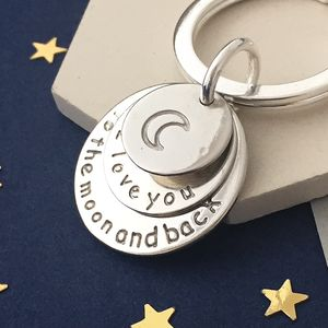 I Love You To The Moon And Back Triple Disc Keyring