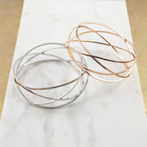 Geometric Cage Cuff Bracelet - contemporary jewellery
