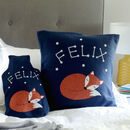 Fox Personalised Glow In The Dark Cushion Gift