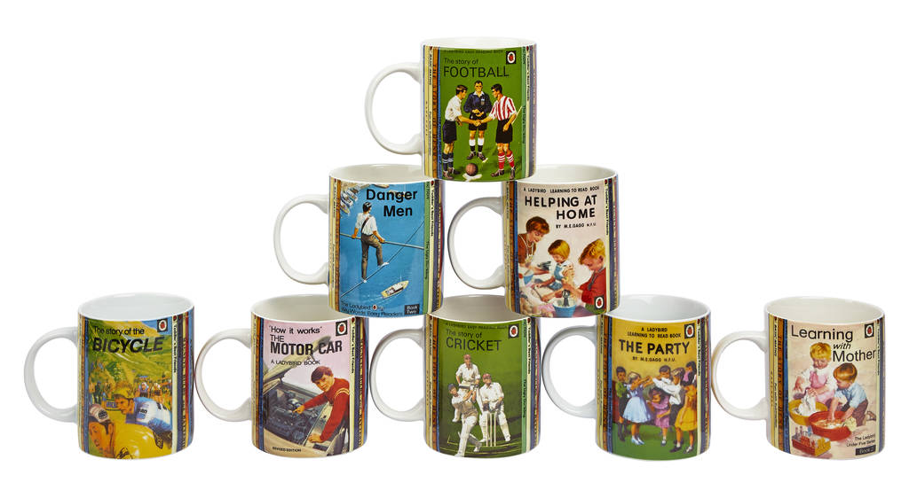 Ladybird Cover Story Fine China Gift Boxed Mug Full Set   Football, Danger  Men,