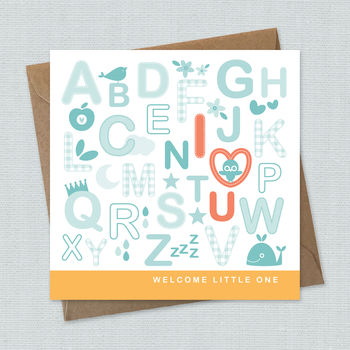 newborn card, new baby card, hello baby card, welcome baby card