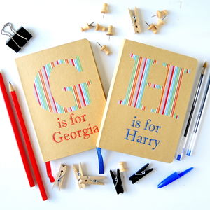 Kids Giant Initial Notebook - writing