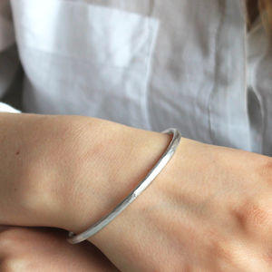 Beaten Silver Secret Message Bangle - bracelets & bangles