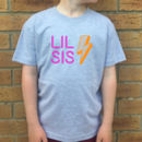 Big Bro Lil Bro/Big Sis Lil Sis Neon Lights Tshirt