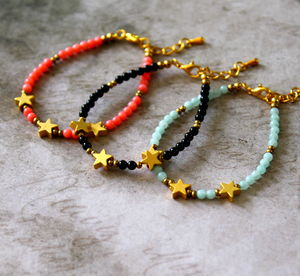 Kid's Star Charm Bracelet With Semi Precious Stones - children's jewellery