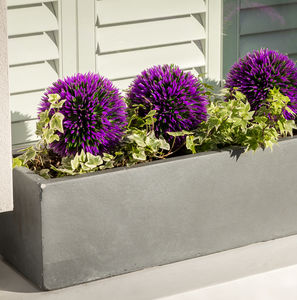 Large Window Box Planter In Parisian Grey - pots & planters