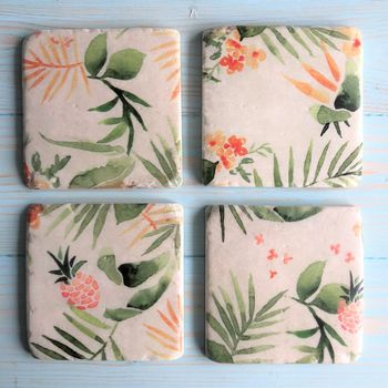 Tropical Drinks Coasters