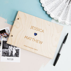 Personalised Heart Couples Wedding Book - new in wedding styling