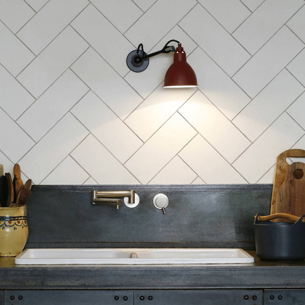 Beautiful Herringbone Kitchen Backsplash