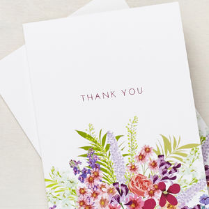 Personalised Secret Garden Thank You Cards - what's new