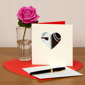 Heart Shaped Mr And Mrs Wedding Card
