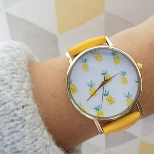 Multiple Pineapple Face Watch - watches