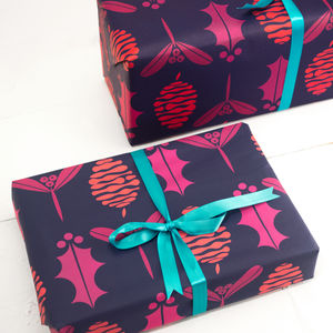 Christmas Fir Cone Gift Wrap Set - wrapping