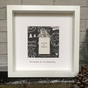 Personalised 'Christmas At The' Home Frame