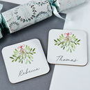 Personalised Mistletoe Coasters