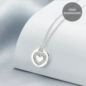Personalised Angel Of Mine Heart Necklace