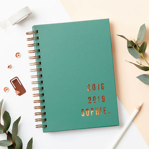 Personalised Copper Mid Year Academic Diary - 2018/2019 calendars & planners