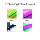 embossing colour choices