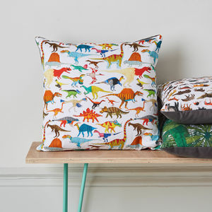 Dinosaur Cushion - patterned cushions
