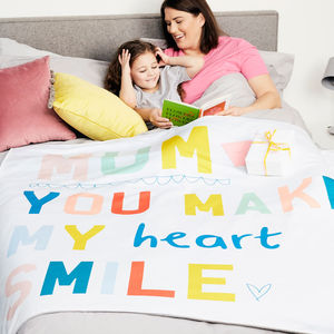 Personalised Make My Heart Smile Blanket