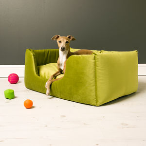 Charley Chau Deep Sided Dog Bed In Velour