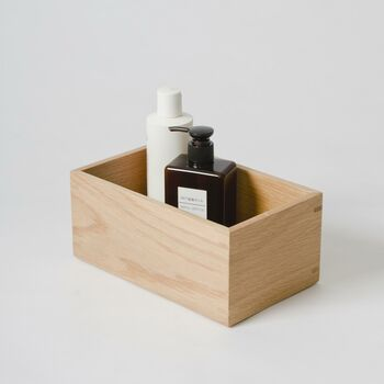 Solid Natural Oak Contemporary Storage Box
