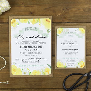 Spring Fields Wedding Invitation - wedding stationery