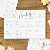 Baby Shower Prediction Cards Pack Of Eight - parties