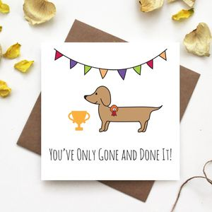 Dachshund Well Done Card