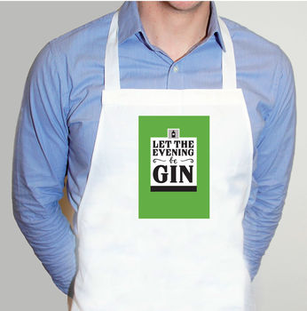 'Let The Evening Be Gin' Adult Apron