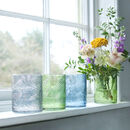 Coloured Glass Botanical Vase Or Candleholder