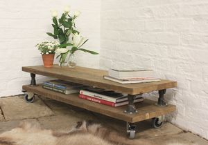 Cassie Reclaimed Scaffolding Board Coffee Table - furniture
