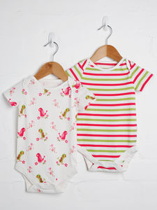 Girls Two Pack Bodysuit - clothing