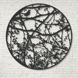 Personalised Blackbird And Trees Metal Screen Sculpture - brand new sellers